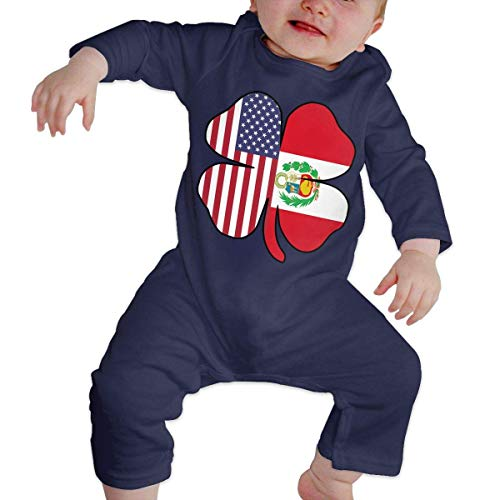 TYLER DEAN Baby Boy Girl Coverall American Peru Flag Shamrock Toddler Jumpsuit Navy]()