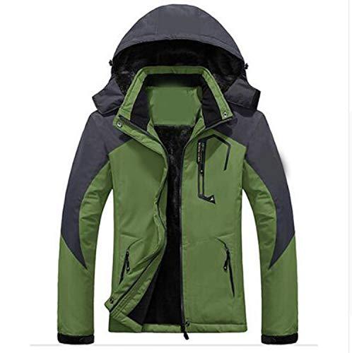 Grass Manteau Polaire Chaud ~ Épaisse À Femmes De M Vestes D'hiver Capuche Parka Et Hommes Étanche Mode Amovible Coupe vent La Men Taille Green 4xl Tfw4gqp4x