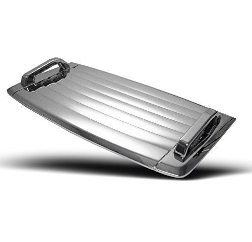 (ZMAUTOPARTS Hummer H3 Hood Deck Vent Panel Handle Covers Trim Moulding ABS Chrome 3Pcs)