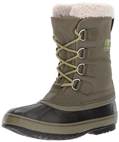 SOREL Men's 1964 Pac Nylon Snow Boot,Nori, Black,9.5 D (Nylon Snow Boots)