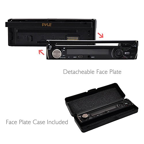 Premium 7In Single-DIN Car Stereo Receiver With Bluetooth - In-Dash Motorized Touchscreen TFT/LCD Display with AM- FM Radio and Multimedia CD / DVD / MP3 / SD / USB & More by Pyle (Image #5)
