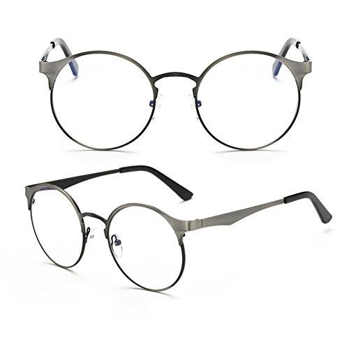 Verres armature Série Gray Inlefen sans de en oeil optiques métal de chat bleus verres neutres anti 8nUqgw1CR