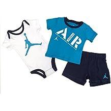 NIKE Jordan Infant Born Baby Bodysuit and Pants 3 Pcs Layette Set