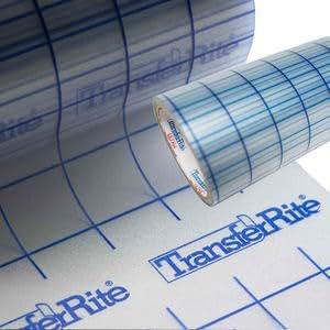 "Greenstar TransferRite 12"" by 30ft Clear Transfer Paper Tape w/Grid, Application Tape"