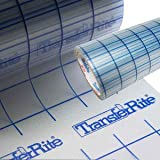 TransferRite Ultra Clear Medium Tack Transfer/Application Tape w/Grid, 24'' x 100yd Roll