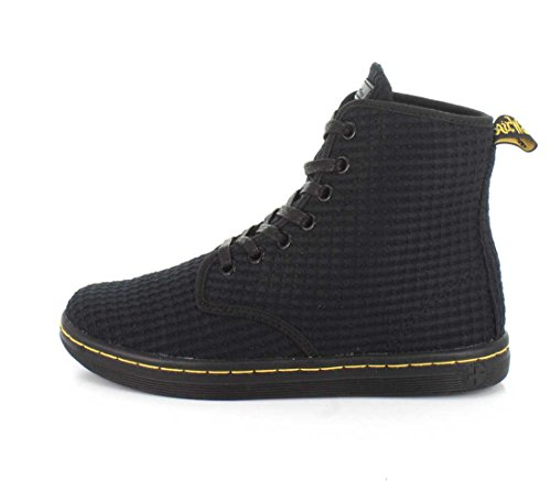 Dr. Martens Womens Shoreditch Boot Black Waffle Cotton