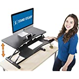 """$184 Get Stand Steady Flexpro Hero Two Level Standing Desk - Easily Sit or Stand in Seconds! Large Work Space w/Removable Extra Level for Keyboard & Mouse! (Regular (32""""))"""