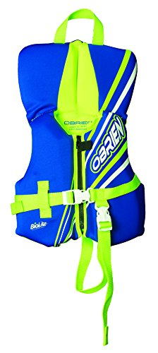 Neo Infant Vest (O'Brien Infant Neoprene Life Vest, Blue/Green, 30-Pound)