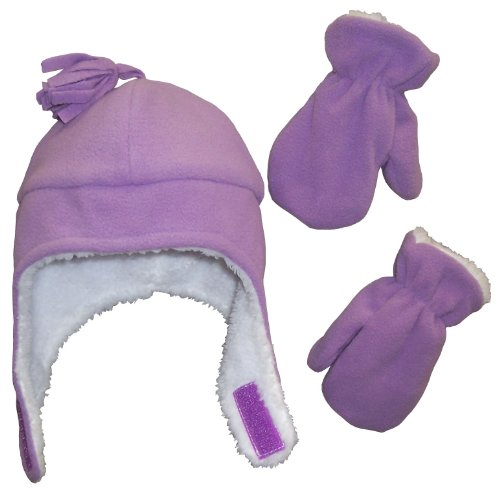 nice-caps-little-girls-and-baby-soft-sherpa-lined-micro-fleece-pilot-hat-and-mitten-set