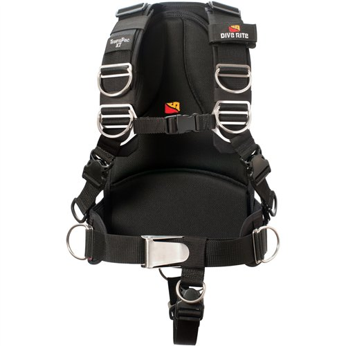 Dive Rite Transpac XT Scuba Diving Harness System with Soft Backplate (Medium)