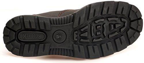Redback BUBOK Offroad Chelsea Boots - Arbeitsschuhe Work Boots Aus Australien - Unisex - Claret Brown | Schwarze Sohle | Black Sole Claret Brown