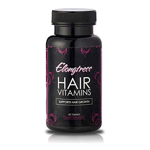 Elongtress Hair Growth Vitamins supplement - 5000mcg Biotin, Silica & MSM - 2 per day hair vitamins for long hair growth - Best Hair Growth Supplement