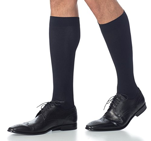 SIGVARIS Men's MIDTOWN MICROFIBER 820 Calf 15-20mmHgMen's Closed ToeCalfBlackMX - Medium Extra Long15-20mmHg