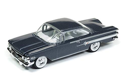 Price comparison product image Round 2 1960 Chevy Impala Hard Top,  Shadow Gray Metallic RCSP003 / 24 - 1 / 64 Scale Diecast Model Toy Car