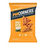 POPCORNERS Spicy Queso, Popped Corn Snacks, 3oz (Pack of 12)