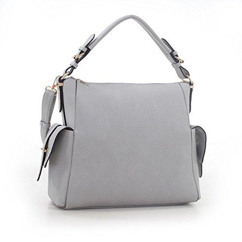 MyLUX Fashion Designer Handbag Lana Series 62076 GREY