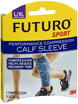 Futuro Sport Performance Compression Calf Sleeve Large/X-Large - 1 Sleeve, Pack of 2 by Futuro