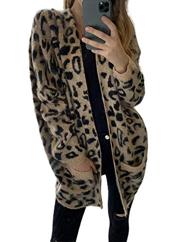 Asvivid Womens Soft Open Front Fuzzy Cardigans Oversized Loose Fit Popcorn Long Sweater Coat Outwear with Pocket