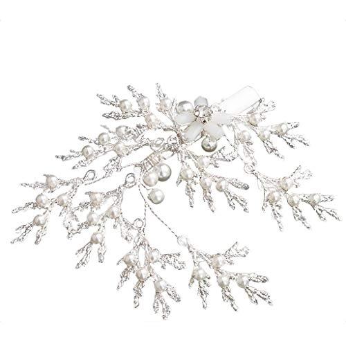 (BB67 Women's Only Hair Clips Snowflake Hairpin Handmade Pearl Duckbill Hairpin)