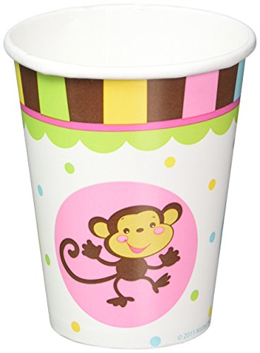[Adorable Fisher Price Baby Shower Party ABC Monkey Paper Cups Tableware, 9 Ounces, Pack of 8] (Abc Party Costume Ideas)
