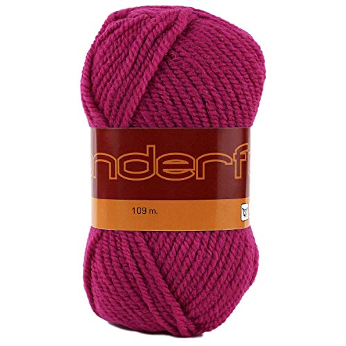 Wonderful 4 Pack (Skeins) Worsted Weight Yarn Wool 50% Acrylic 50% Each Skein 3 oz (85g) 119 Yards (109m) (Hot Pink) (Worsted Yarn Weight Pink)