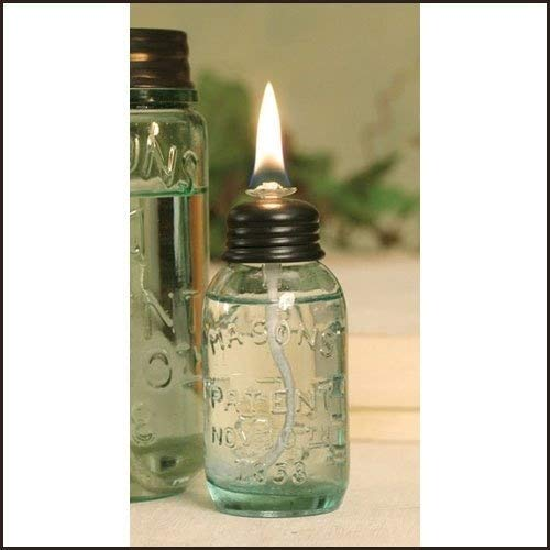 1 X Miniature Mason Jar Oil Lamp by Colonial Tin Works
