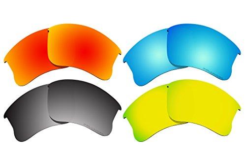 4 Pairs Polarized Lenses Replacement J3 for Oakley Flak Jacket XLJ - Flak Frame Jacket Xlj Only