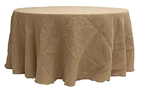 """12 Pack 120/"""" ROUND Natural BURLAP TABLECLOTH Table Cover Wedding Party Catering"""
