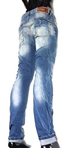 Jeanshose Stretch für Herren im destroyed-look Design von Kingz