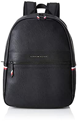 Tommy Hilfiger Men's Essential Signature Tape Backpack Essential Signature Tape Backpack, Black, One Size