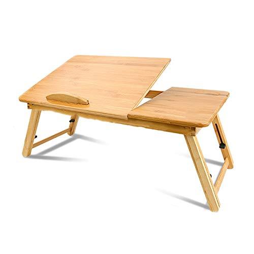 GYH Zhuozi LJHA - Bandeja de desayuno de bambu, multifuncional para dormitorio o mesa de ordenador, apto para cama o dormitorio (2 tamanos) 50×30cm