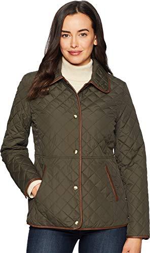 Lauren Ralph Lauren Women's Blazer Quilt Litchfield Loden (Ralph Lauren Lined Blazer)