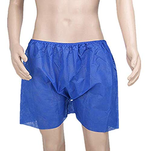 BENA 20 Counts Disposable Men's Boxer Shorts for Travel Camping Spa Exam, Elastic Waist, Individually Wrapped