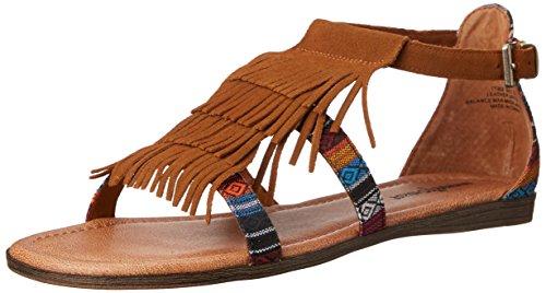 Braun cuero 71302TPE Minnetonka de para Brown BAZ pulsera mujer Zapatos Ibiza de BU7qz1w