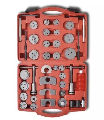 SKB Family Brake Caliper Piston Wind Back Tool Kit 40 pcs home brake compatible steel crafted