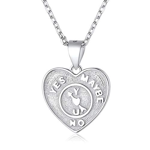 - Heart Necklace 925 Sterling Silver Arrow Heart Coin Pendant Necklace Vintage Jewelry for Women Men