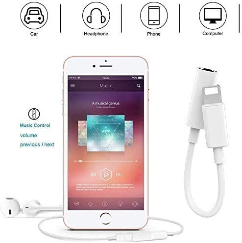 Apple MFi Certified Lightning to 3.5mm Jack Adapter for Headphone Converter Compatible for iPhone 12 Pro 11 Max XR XS 8 7 Music Control /& Calling Function Support iOS 11,10.3 SILVER BeckenBower/®