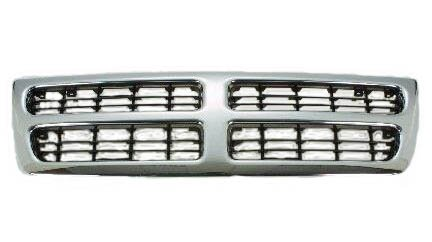 Dodge Van 98-03 99 00 01 02 Front Grille Car Chrome (01 Dodge B2500 Van)