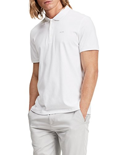 Calvin Klein Men's Liquid Touch Polo,White,XX-Large