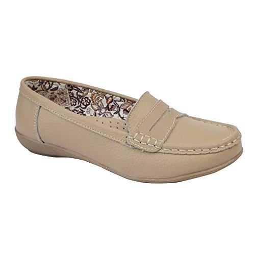 Boulevard Womens / Ladies Tablier Selle Été Chaussures Décontractées Beige