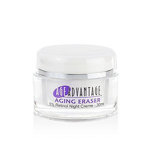 Age Advantage Skincare Aging Eraser W Retinol Night Cream w Emu Oil for Wrinkles, Fine Lines, Marionette Lines, Frown Lines, Sagging Skin