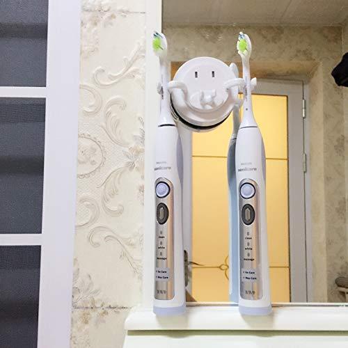 Allegro Huyer Toothbrush Wall Mount Holder Toothbrush Holder Suction Hooks Shaver Organizer Bathroom Accessories Tooth Brush Holder Wall Mount Set Bathroom Sucker ()