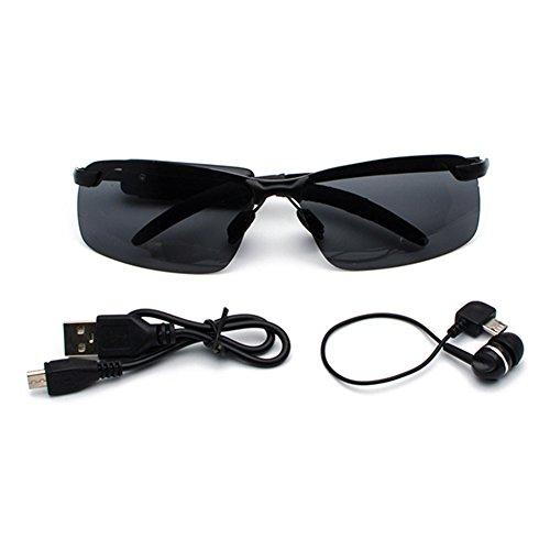 Casque Micro Lunettes de Écouteurs Stéréo avec Mxssi Sans Lunettes Bluetooth Casque pour Téléphone 209 Mobile Polarisées Musique Soleil C1 Fil Extérieures qgtn1npE