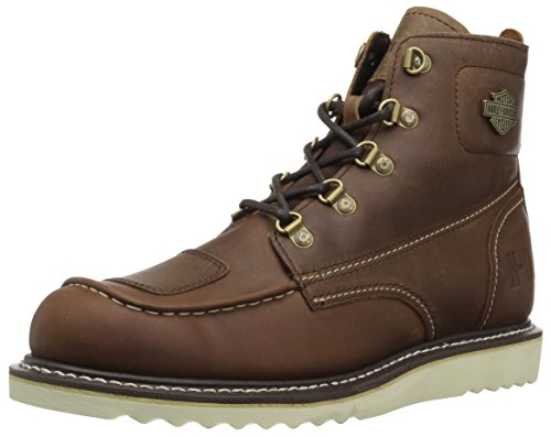 Harley-Davidson Men's Hagerman Motorcycle Boot, Brown, 10 Medium US