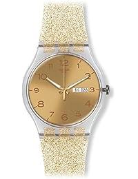 Golden Dial Golden Sparkle Silicone Ladies Watch SUOK704