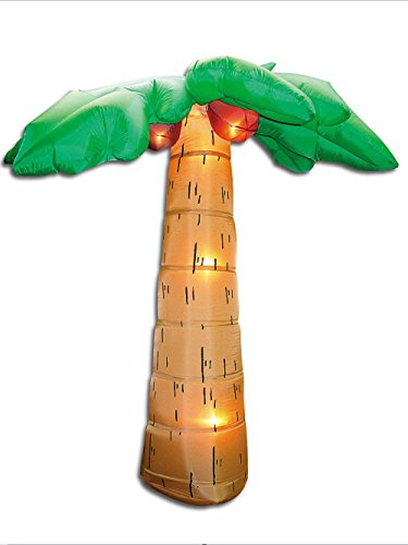 Outdoor Lighted Palm Tree With Coconuts - 2