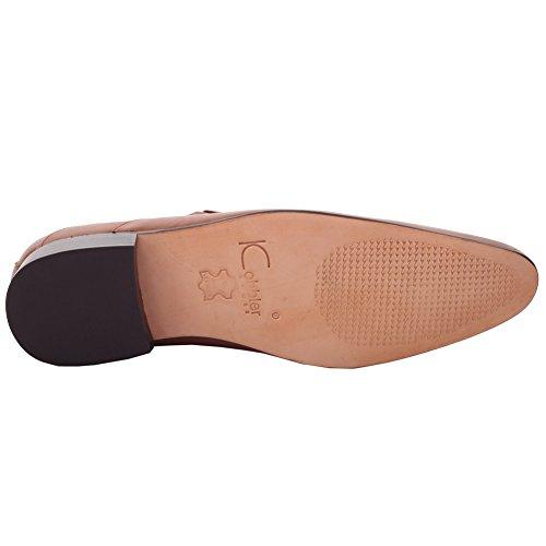 Unze Für Männer Grenny  Leather Formales Kleid geschnürt Schuhe - G00252 Braun
