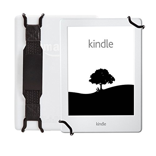 WANPOOL Universal Non-Slip Hand Strap Holder Support with Adjustable Leather Belt Stand, for use with 6 Inch Kindle E-Readers - Kindle Paperwhite/Voyage/Oasis/Fire HD 6 and More