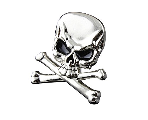 Screw Eye - Steel Silver Color Metal Skull Concho Biker Punk Decorative Button Screw Back #6 ()