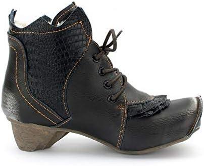 TMA 8606 F élégant Femmes Bottines Doublure Cuir Noir Toutes Tailles 36-42